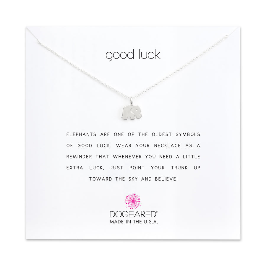 Dogeared Silver 'Good Luck' Elephant Necklace