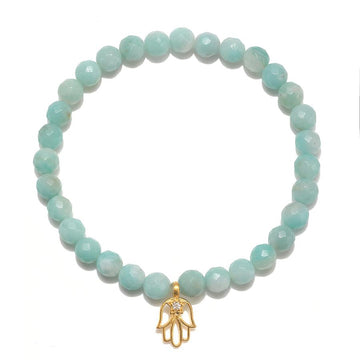 Satya Amozonite Hamsa Stretch Bracelet