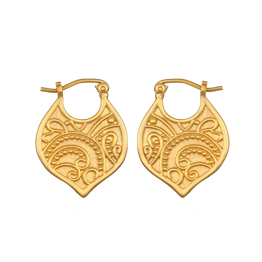 Satya Gold Paisley Eternal Devotion Hoop Earrings