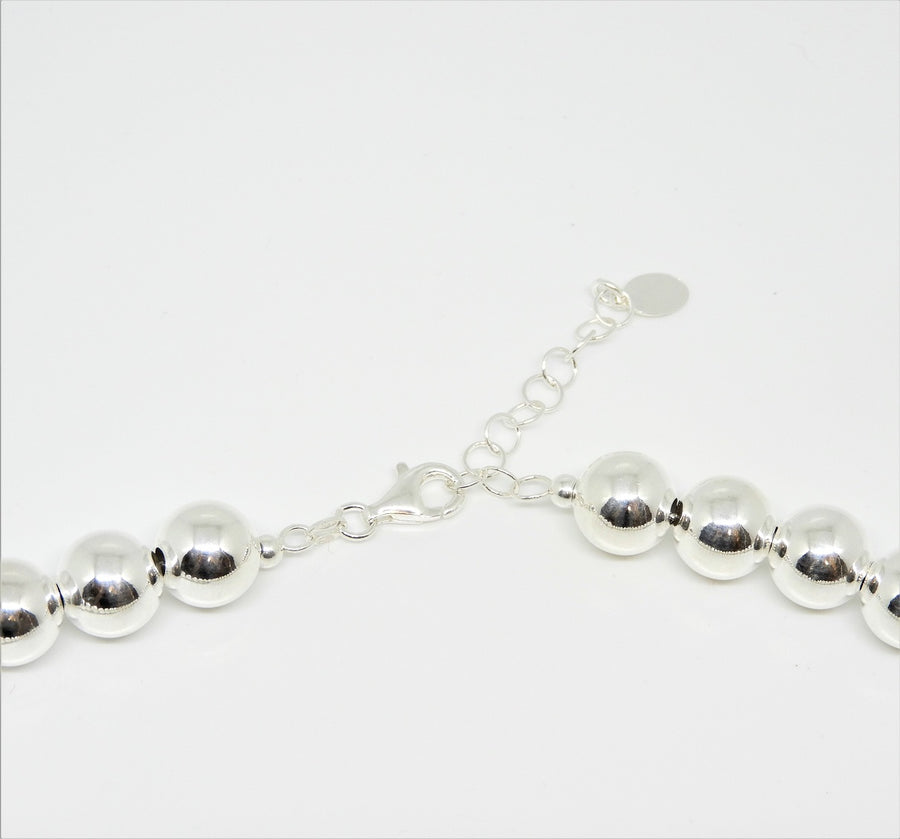 Marseille Sterling Extra Large 10mm Ball Necklace