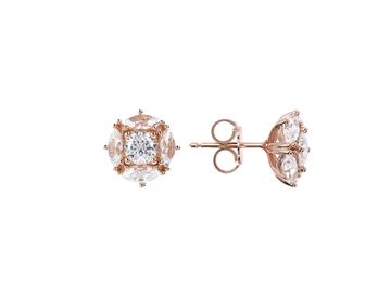 Bronzallure Marq and Round Cluster Stud Earrings
