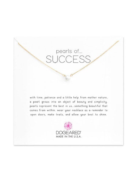 Dogeared Gold Pearls Of Success Necklace