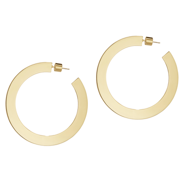 Jenny Bird Gold 'Quinn' Flat Large Hoops