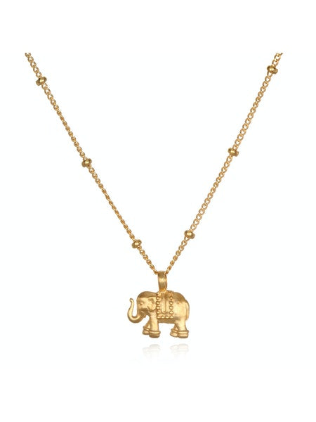 Satya Gold Elephant Pendant Necklace