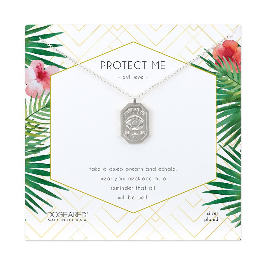Dogeared Silver 'Protect Me' Necklace