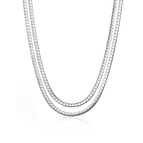 Jenny Bird Silver 'Priya' Double Strand Necklace
