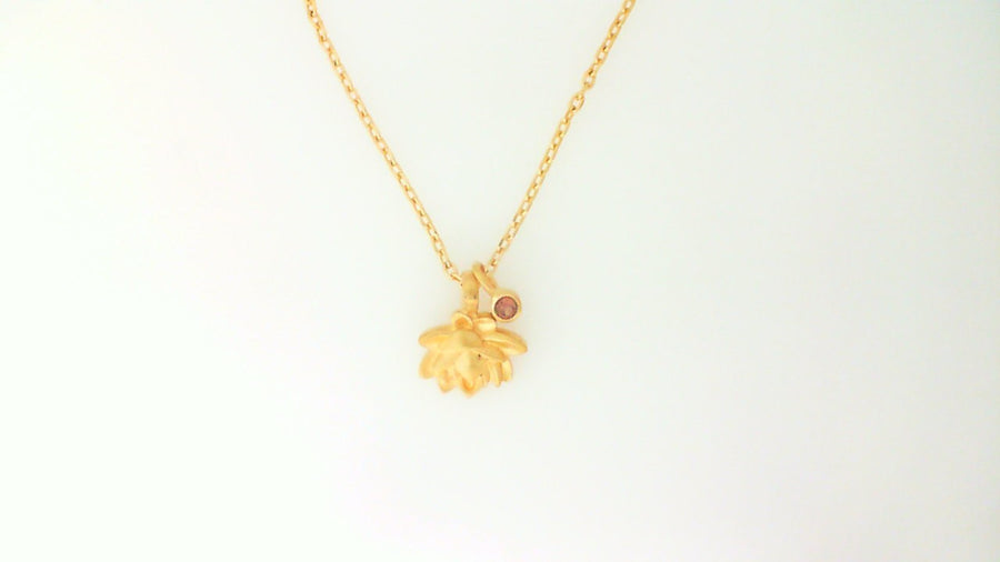 Satya Gold Bloom In Peace Lotus Necklace