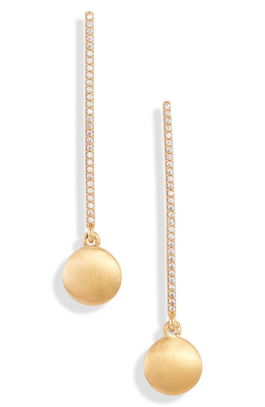 Dean Davidson Gold Core Pendulum Drop Earrings