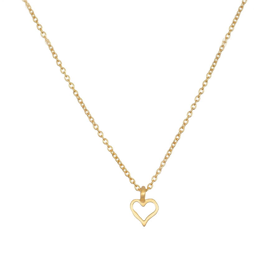 Satya Gold Mini Open Heart Necklace