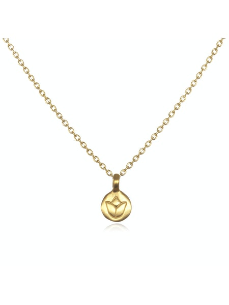 Satya Gold Mini Lotus Necklace