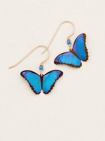 Holly Yashi Bella Butterfly Earrings Blue Radiance