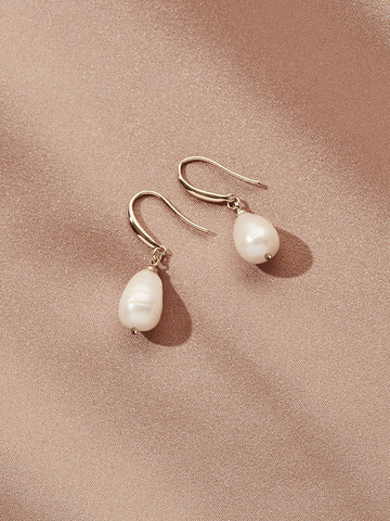 Olive & Piper Gold 'Prado' Pearl Drop Earrings