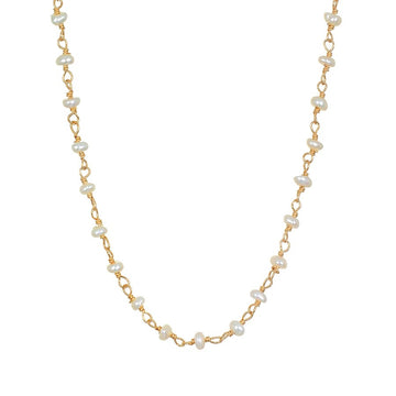 Satya Gold Scatter Light Pearl Choker