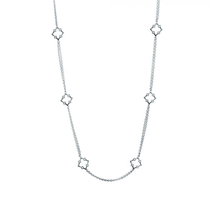 Birks Sterling Muse 36'' Stations Necklace