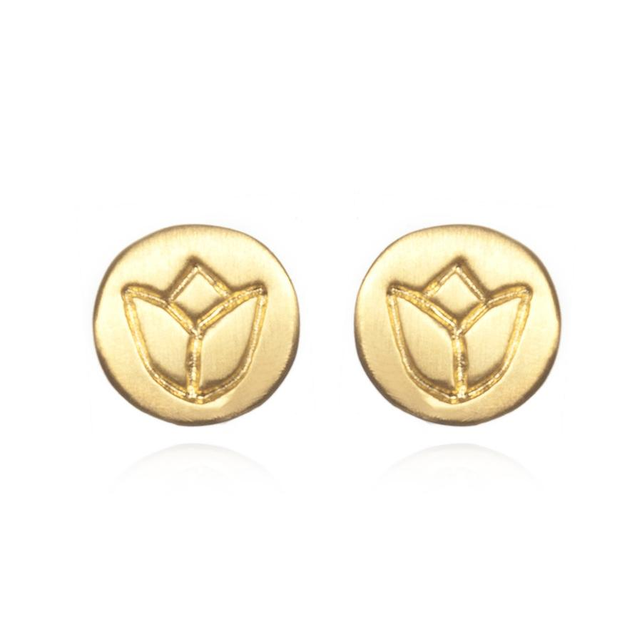 Satya Gold Lotus Stud Earrings