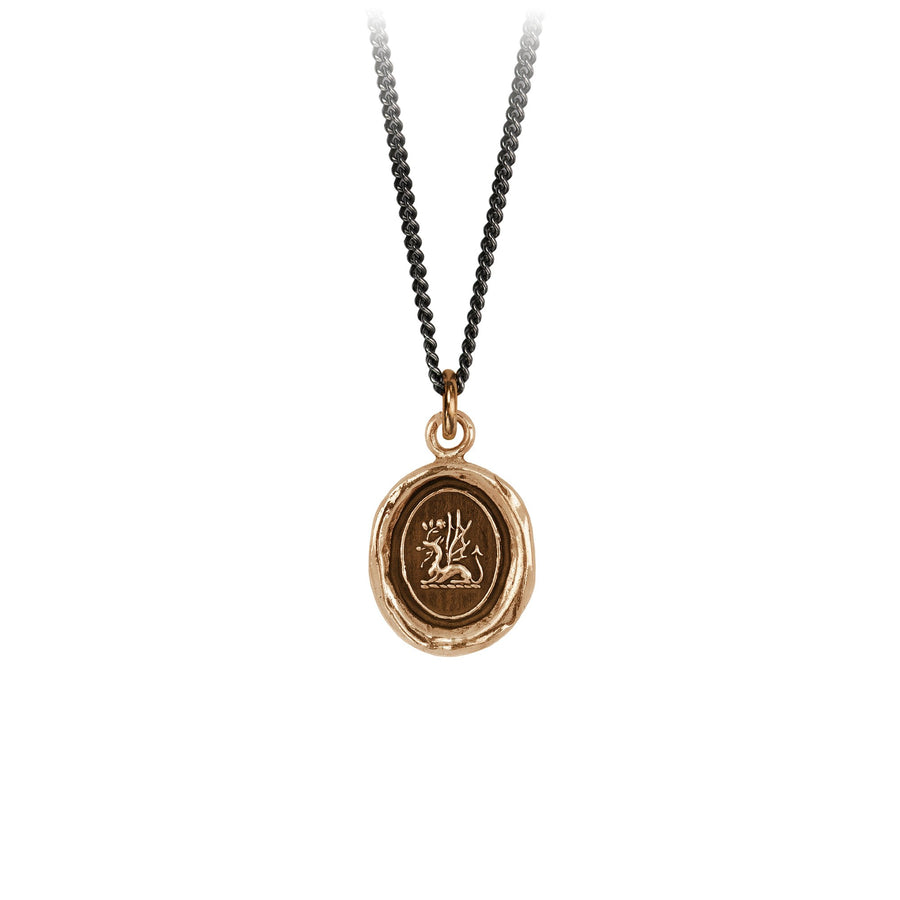 PYRRHA Bronze Protection Talisman - 18 Inch Chain