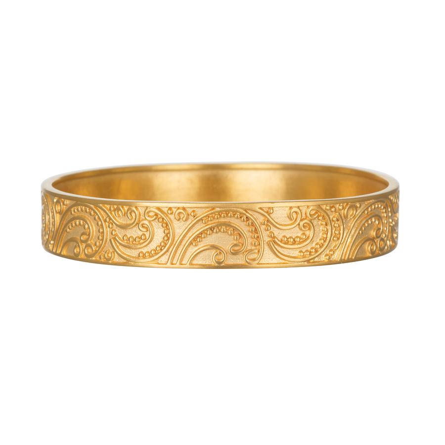 Satya Gold Paisley Bangle