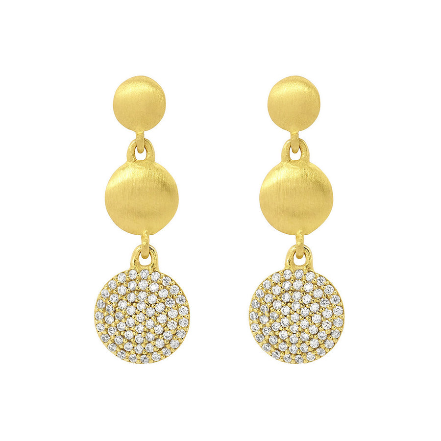 Dean Davidson Core Signature Triple Drop Pave Earrings