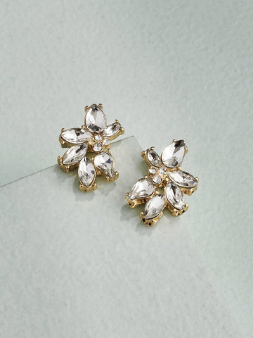 Olive & Piper Gold 'Harlow' Cluster Stud Earrings