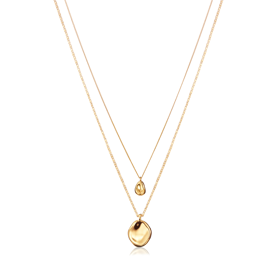 Jenny Bird Gold 'Mithras' 2 Layer Necklace