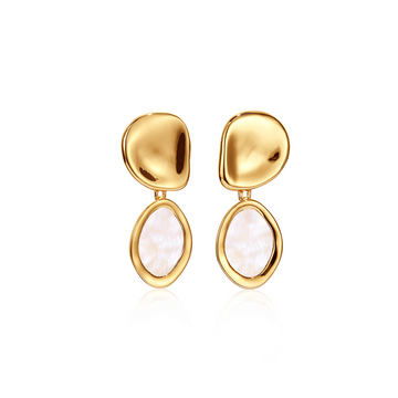Jenny Bird Gold Mithras Mop Earrings