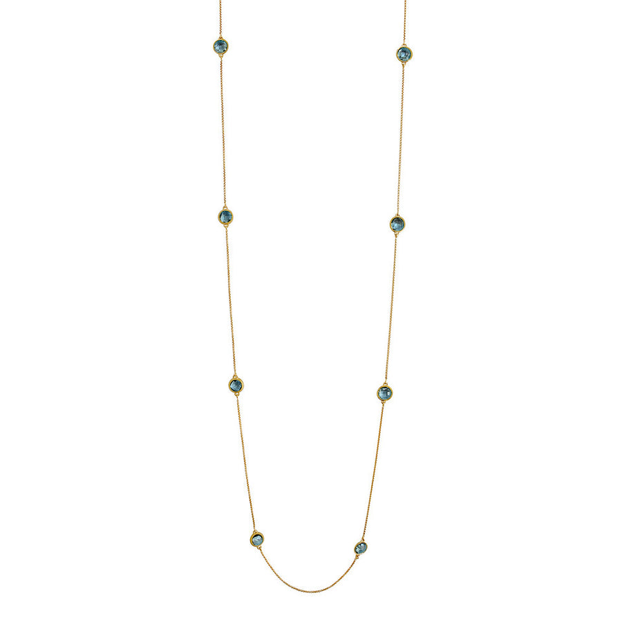 Dean Davidson Mar Blue Topaz Charm Station Necklace