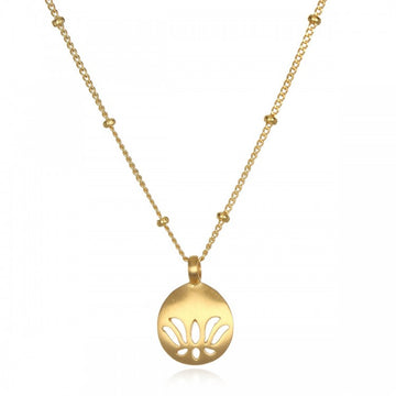 Satya Gold Lotus New Beginnings Necklace
