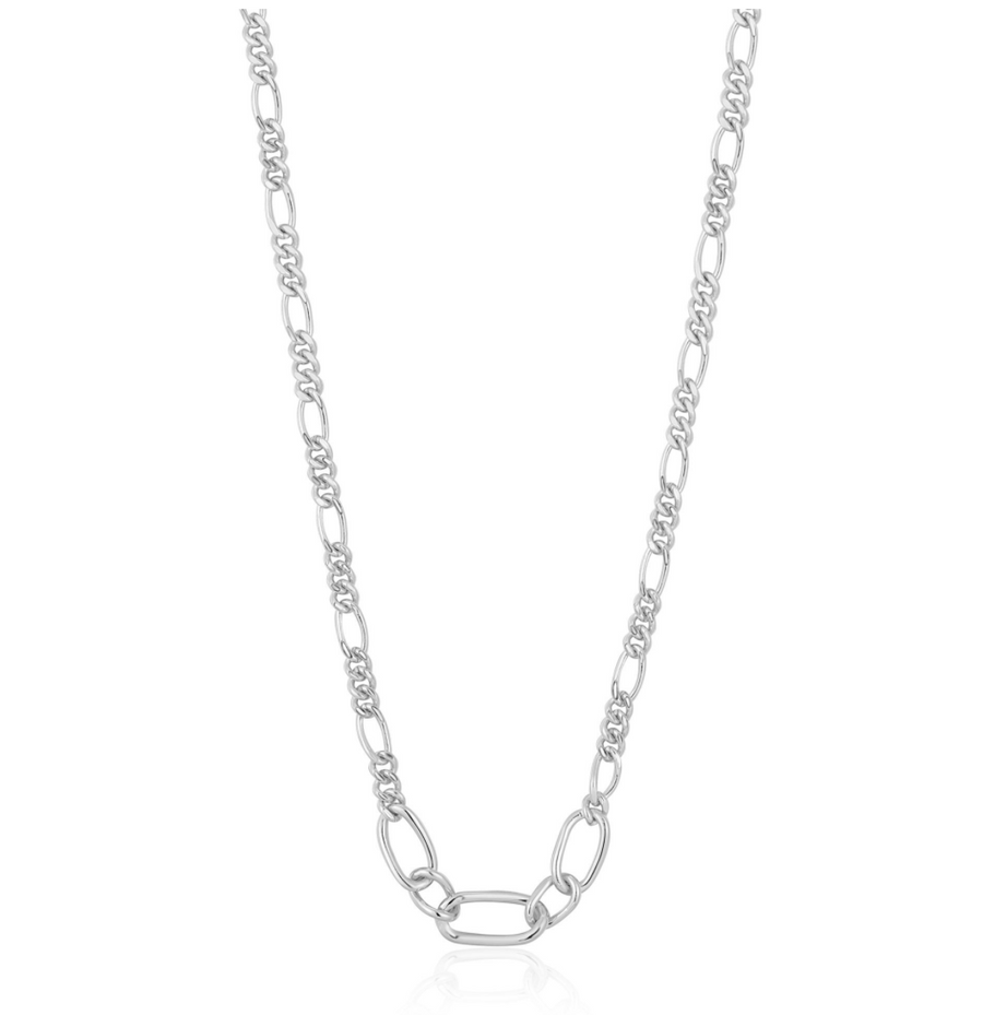 Ania Haie Silver Figaro Chain Necklace