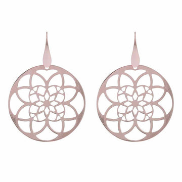 Bronzallure Shiny Filigree Round Drop Earrings