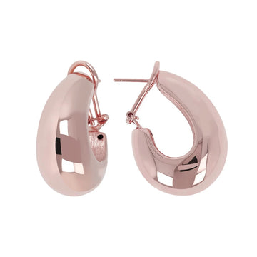 Bronzallure Rose Electroformed Wide Tappered Hoop Earrings