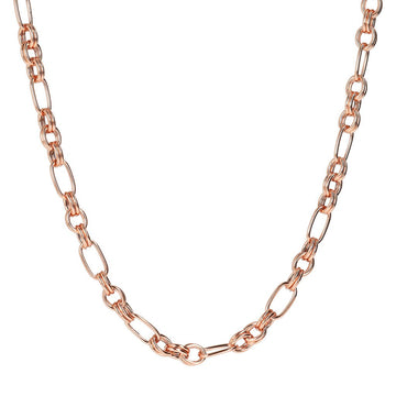 Bronzallure Rose Oval Links Necklace