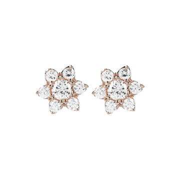 Bronzallure Cz Gemstone Flower Earrings