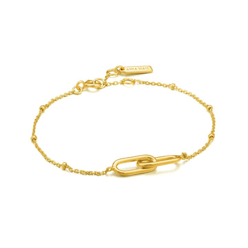 ANIA HAIE BEADED CHAIN LINK BRACELET GOLD