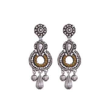 Ayala Bar Indigo Bronze Leverback Earrings