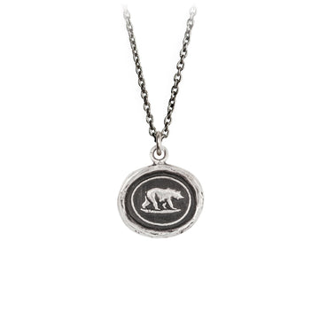PYRRHA Sterling Mother Bear Necklace