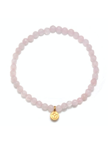 Satya Rose Quartz Lotus Stretch Bracelet