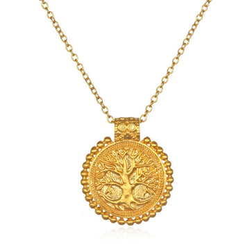 SatyaGold Tree of Life Mandala Necklace