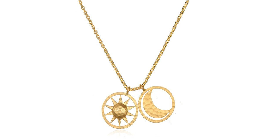 Satya Gold Sun & Moon Necklace
