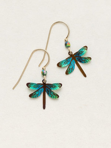 Holly Yashi Gold Dragonfly Dreams Earrings Turquoise