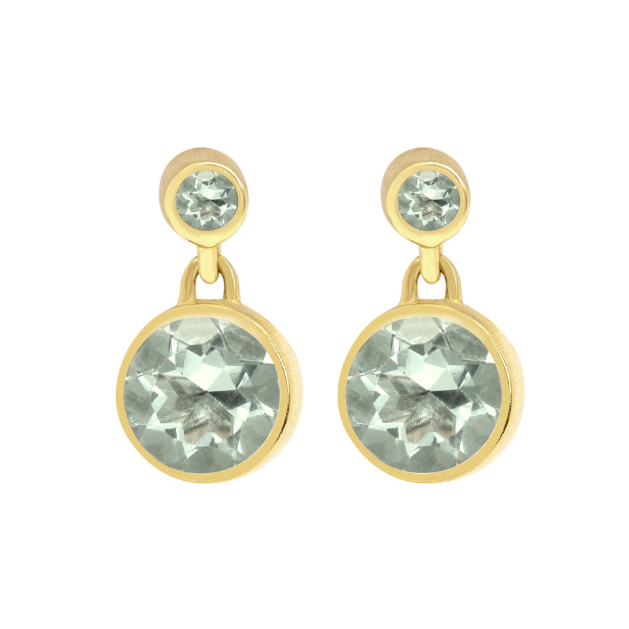 Dean Davidson Signature Droplet Green Amethyst Gold Earring