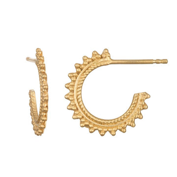 Satya Gold Small Beaded Hoops