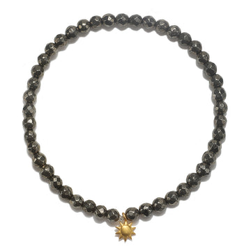 Satya Gold Pyrite Sun Stretch Bracelet