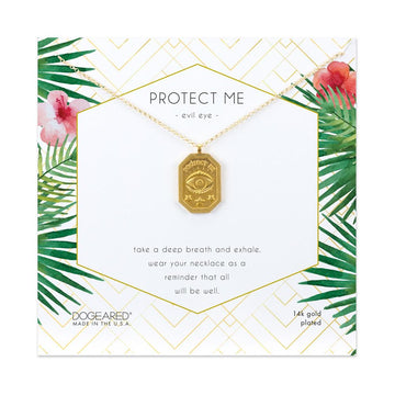 Dogeared Gold 'Protect Me' Necklace