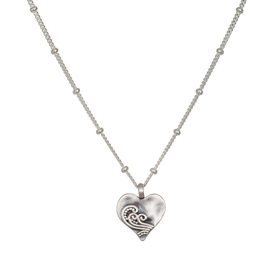 Satya Silver Heart Necklace
