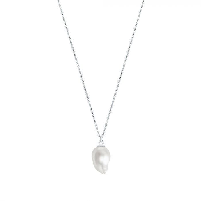 BIRKS Sterling Bee Chic 17-18MM Fresh Water Pearl Pendant on Long Chain