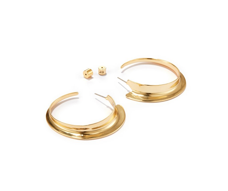 Jenny Bird Gold 'Vantage' Large Hoop Earrings