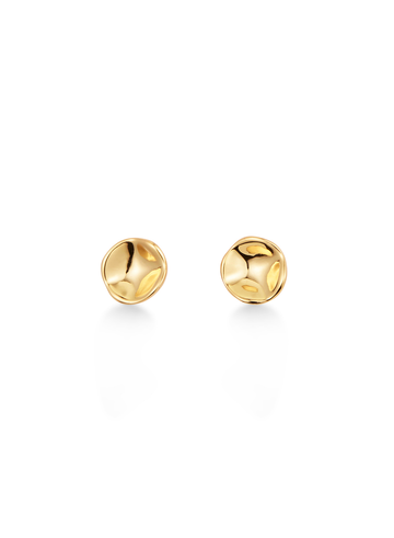 Jenny Bird Gaia High Polish Gold Stud Earrings