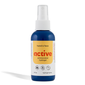 Active Antimicrobial Hand & Face: All-Natural Hydrogel Spray