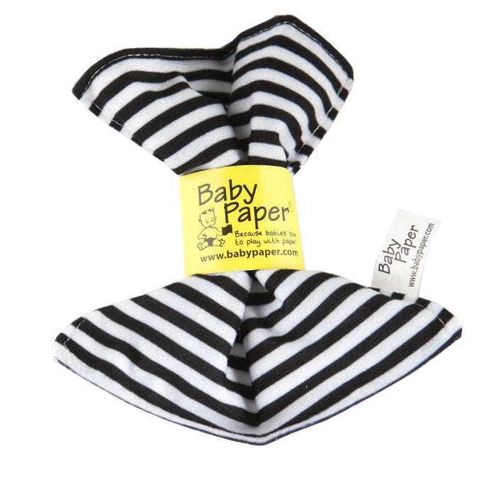 Black & White Stripe Pattern Baby Paper