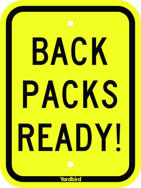 Backpacks Ready Sign